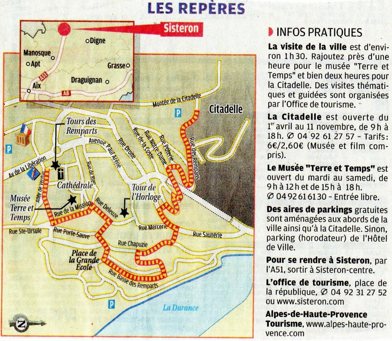 Sisteron (Систерон) - туристический маршрут по Систерону
